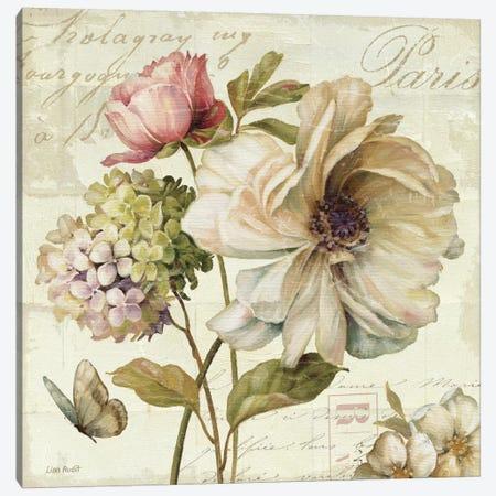 Marche de Fleurs II (without Text) Canvas Print #WAC683} by Lisa Audit Canvas Art