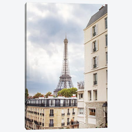 Eiffel View I Canvas Print #WAC6848} by Laura Marshall Canvas Wall Art