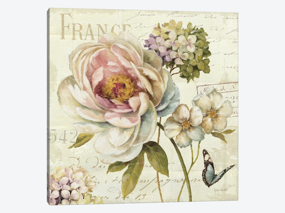 Marche de Fleurs III (without Text) by Lisa Audit 1-piece Canvas Art