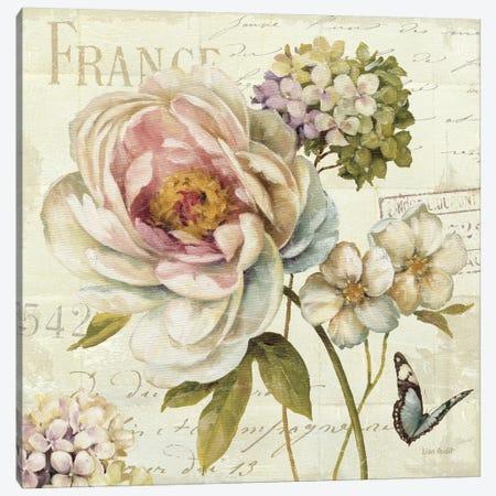 Marche de Fleurs III (without Text) Canvas Print #WAC684} by Lisa Audit Canvas Print