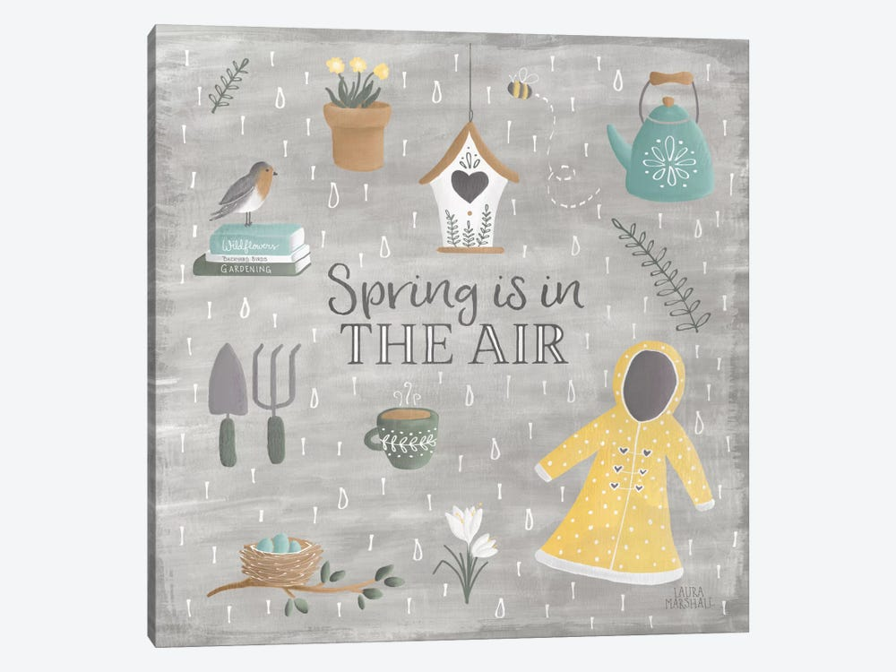 Smitten With Spring I by Laura Marshall 1-piece Art Print