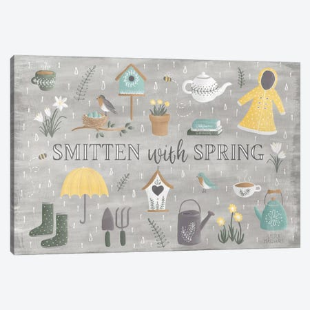 Smitten With Spring III Canvas Print #WAC6853} by Laura Marshall Canvas Art Print