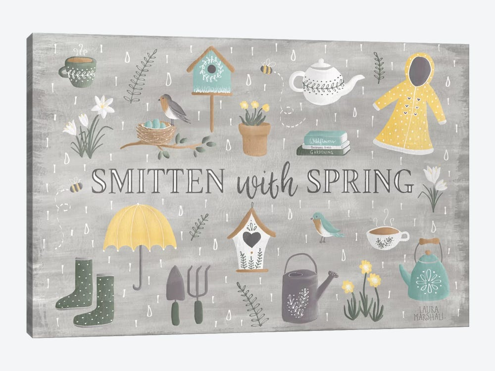 Smitten With Spring III by Laura Marshall 1-piece Canvas Print