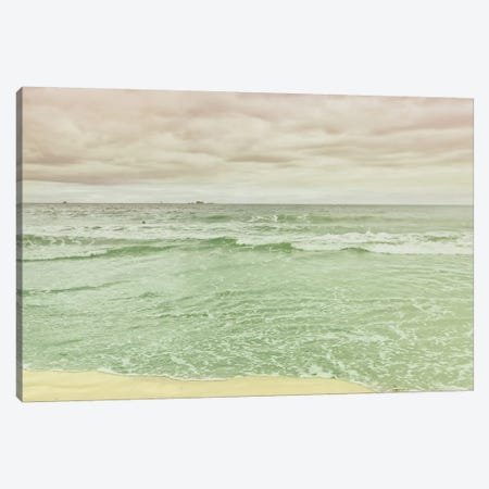 Beach Tricolor Canvas Print #WAC6868} by Keri Bevan Canvas Wall Art