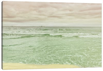 Beach Tricolor Canvas Art Print