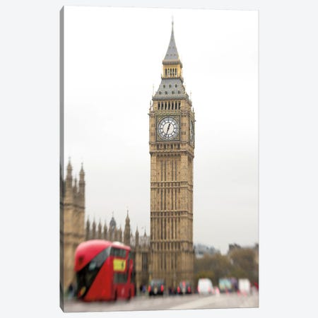 Big Ben Bus Canvas Print #WAC6869} by Keri Bevan Canvas Artwork