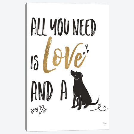 Pet Love II Canvas Print #WAC6884} by Veronique Charron Canvas Print