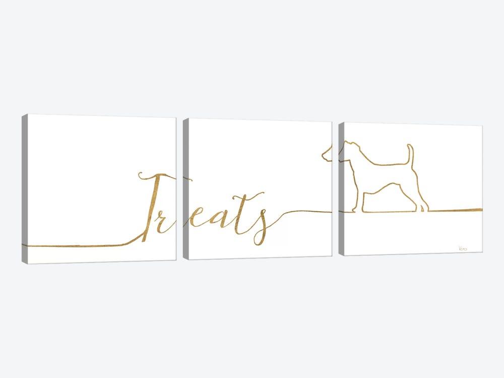 Underlined Dogs III by Veronique Charron 3-piece Canvas Art Print