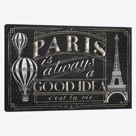 Vive Paris I Canvas Print #WAC6905} by Janelle Penner Canvas Wall Art