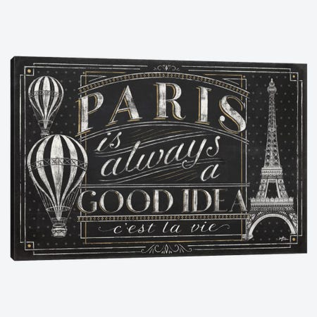 Vive Paris I Canvas Print #WAC6905} by Janelle Penner Canvas Wall Art
