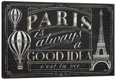 Vive Paris I Canvas Art Print