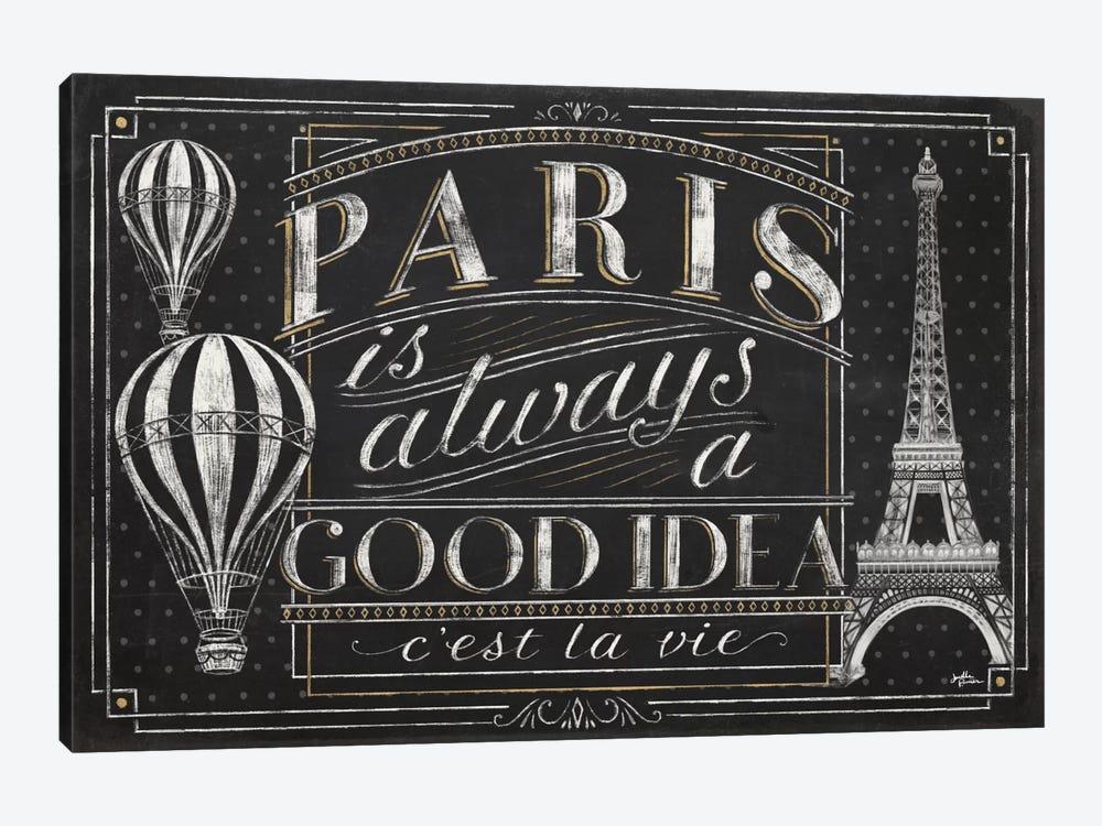 Vive Paris I by Janelle Penner 1-piece Canvas Print