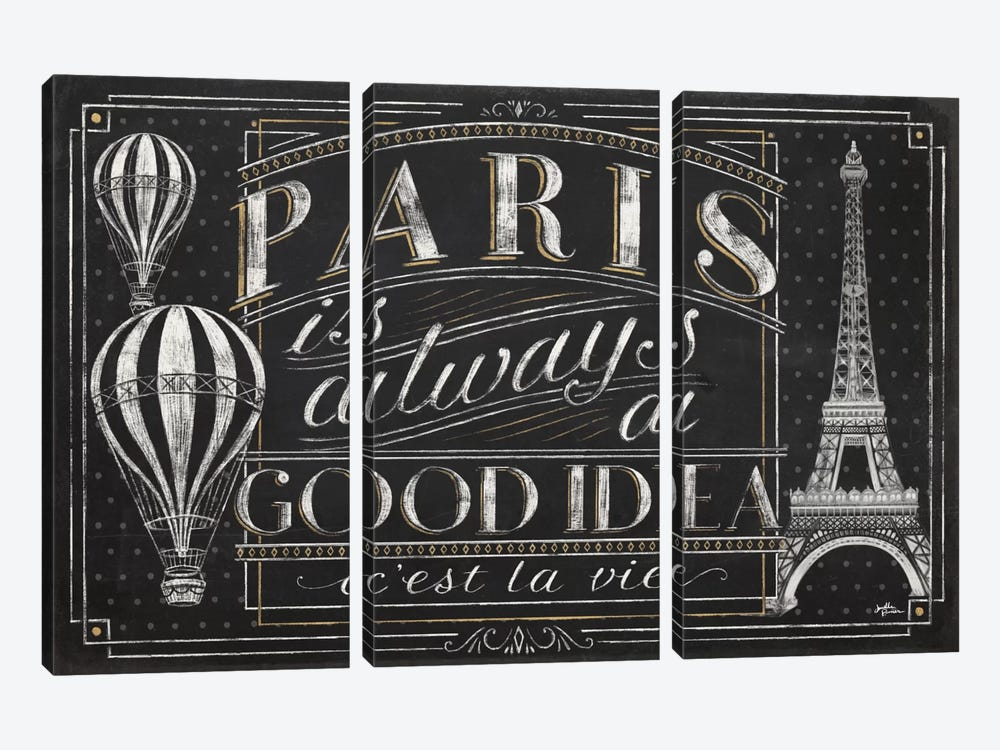 Vive Paris I by Janelle Penner 3-piece Art Print