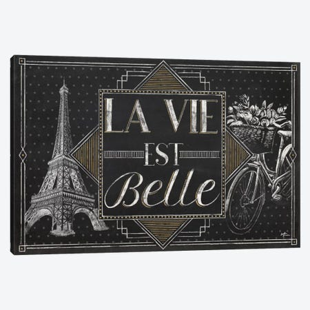 Vive Paris II Canvas Print #WAC6906} by Janelle Penner Canvas Artwork