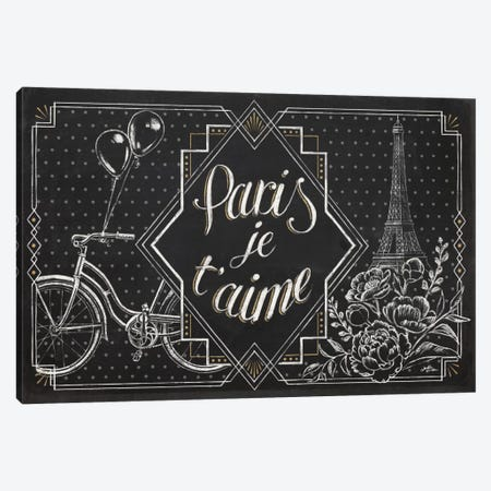 Vive Paris III Canvas Print #WAC6907} by Janelle Penner Canvas Wall Art