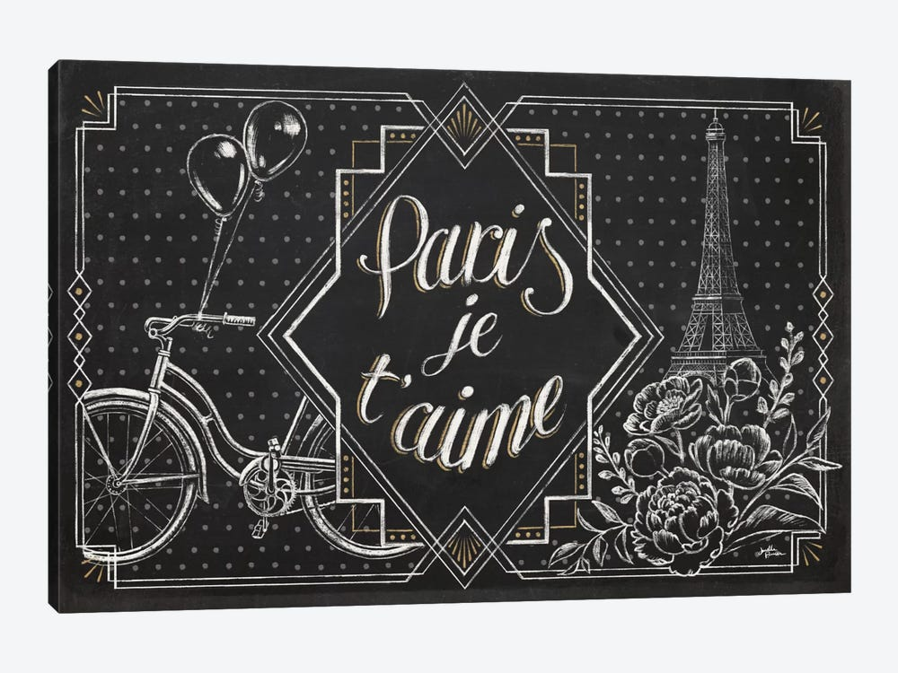 Vive Paris III by Janelle Penner 1-piece Canvas Art Print