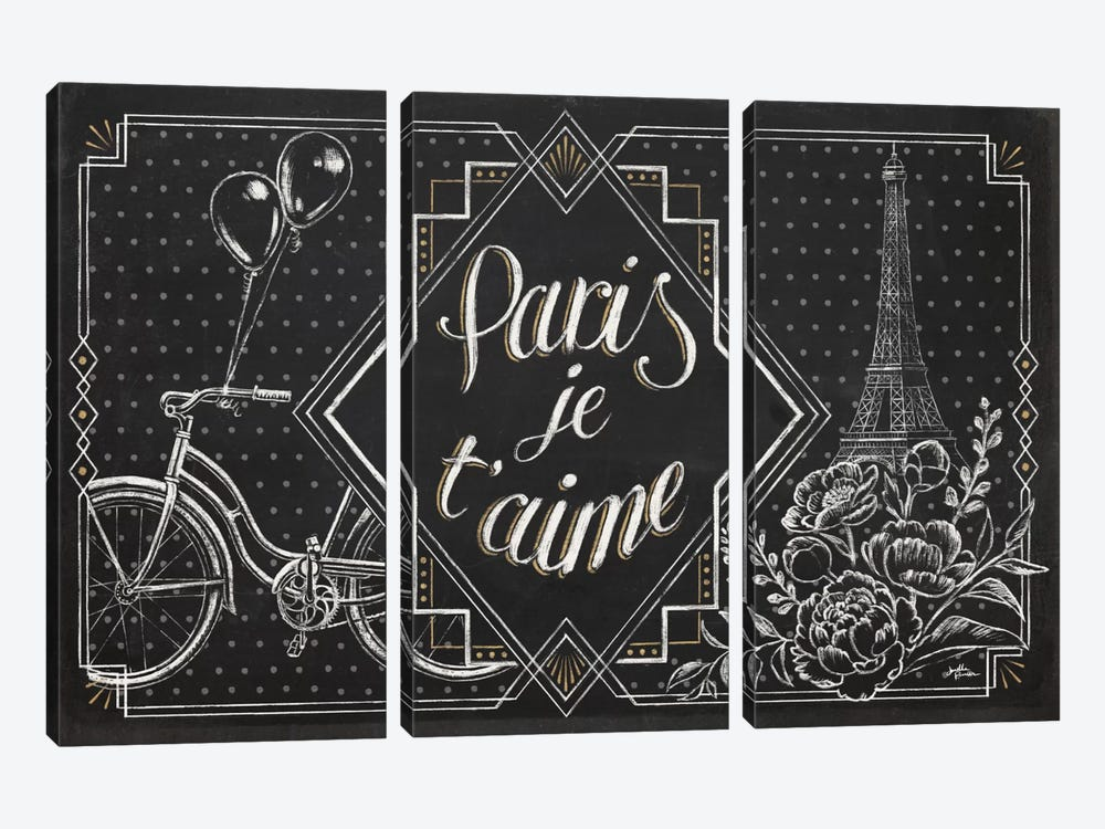 Vive Paris III by Janelle Penner 3-piece Canvas Print
