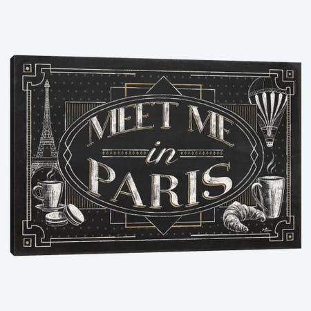 Vive Paris IV Canvas Print #WAC6908} by Janelle Penner Canvas Print