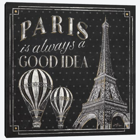 Vive Paris V Canvas Print #WAC6909} by Janelle Penner Canvas Art Print