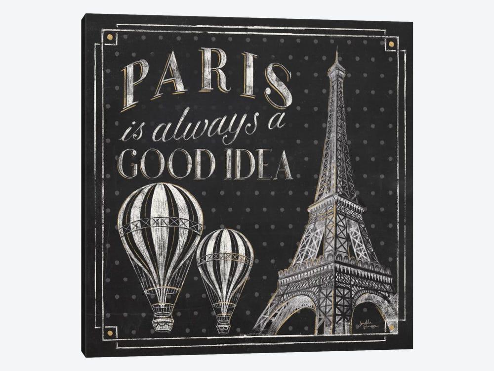 Vive Paris V by Janelle Penner 1-piece Canvas Print