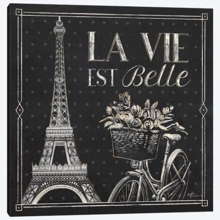 Vive Paris VI Canvas Print #WAC6910} by Janelle Penner Canvas Artwork