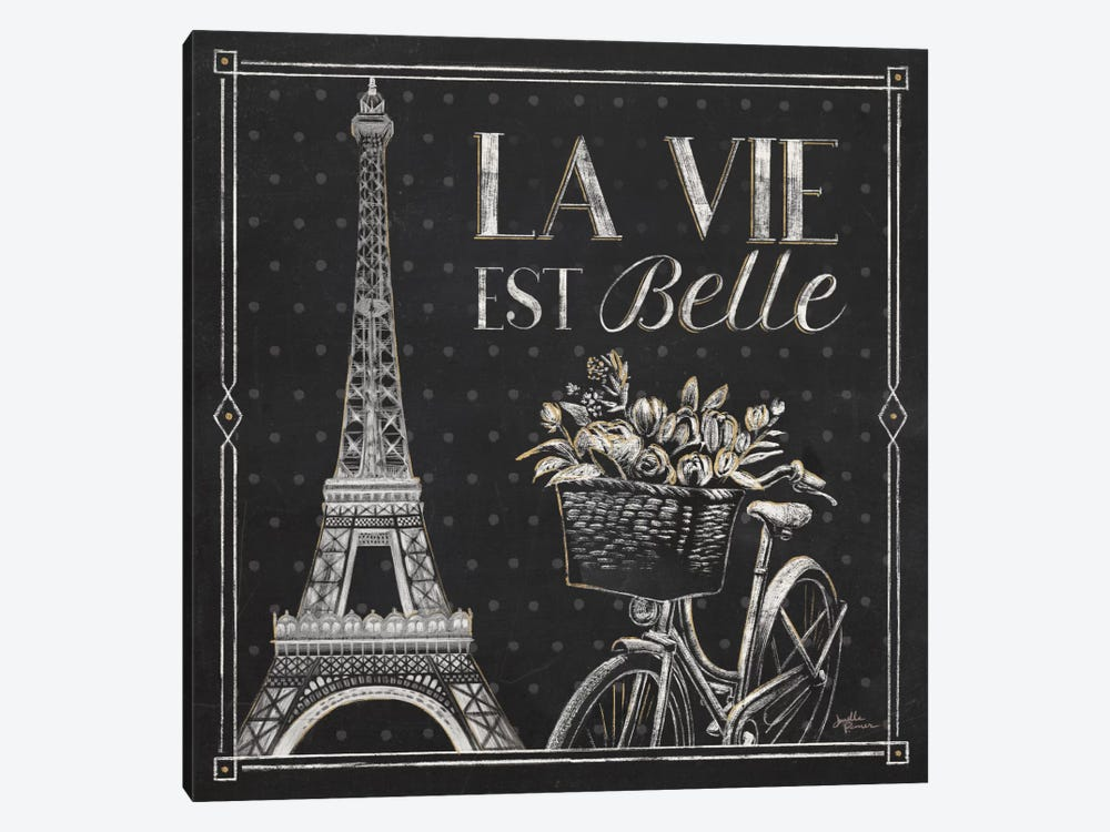 Vive Paris VI by Janelle Penner 1-piece Canvas Print
