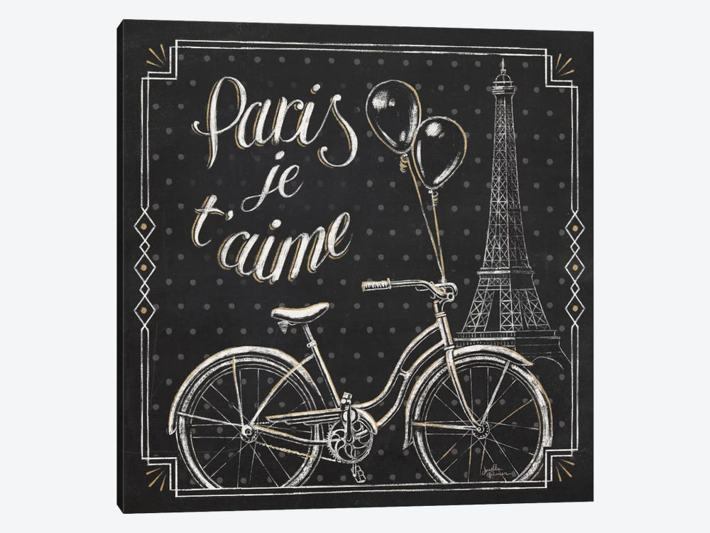 Vive Paris VII by Janelle Penner 1-piece Canvas Artwork