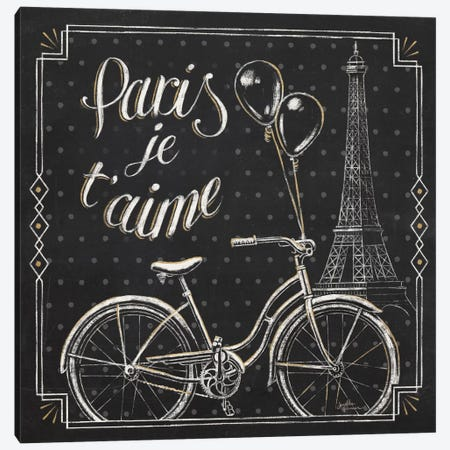 Vive Paris VII Canvas Print #WAC6911} by Janelle Penner Canvas Artwork