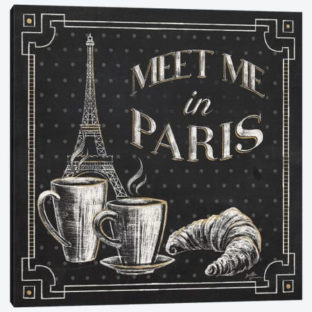 Vive Paris VIII Canvas Print #WAC6912} by Janelle Penner Canvas Art