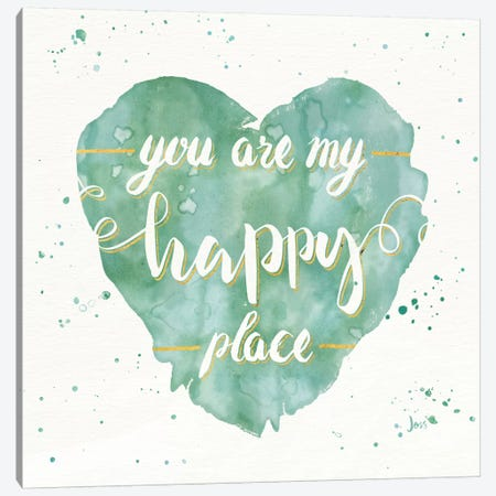 Happy Hearts II Canvas Print #WAC6920} by Jess Aiken Canvas Art Print