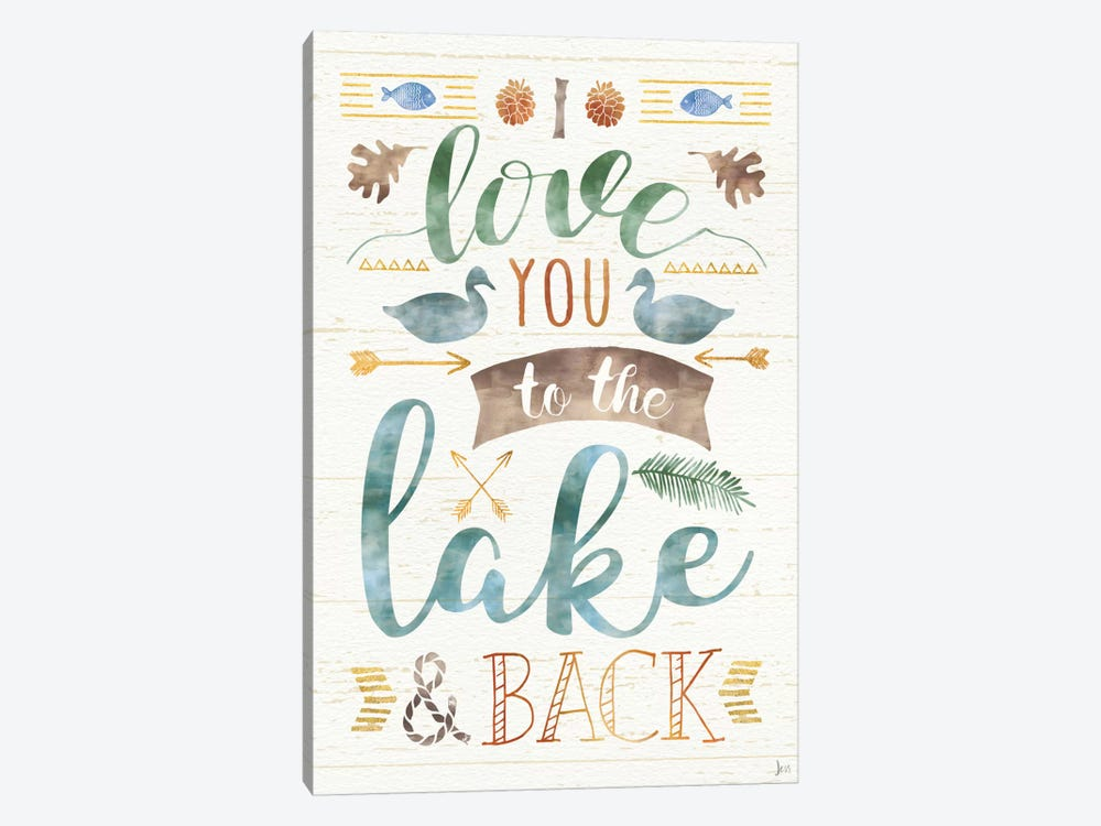 Lake Love II by Jess Aiken 1-piece Canvas Wall Art
