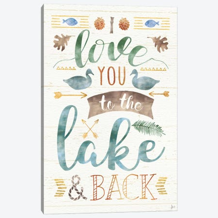 Lake Love II Canvas Print #WAC6922} by Jess Aiken Art Print