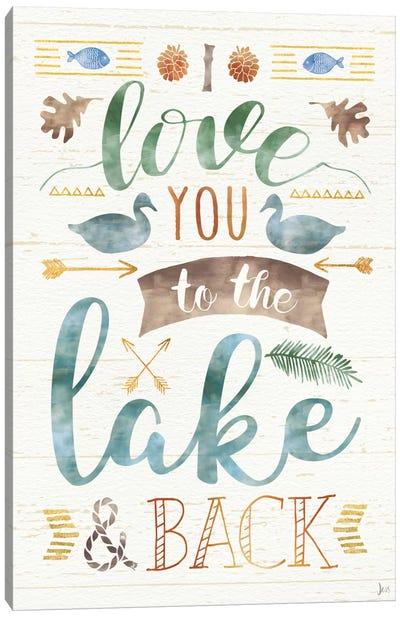 Lake Love II Canvas Art Print