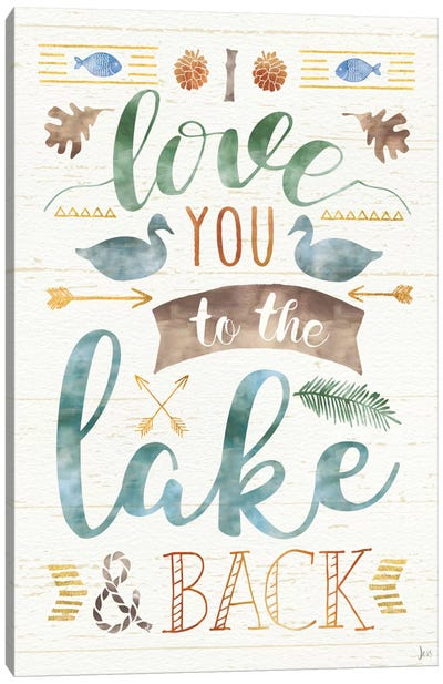 Lake Love II Canvas Art Print