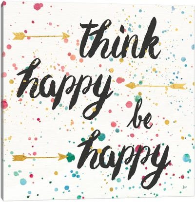 Think Happy II Canvas Art Print