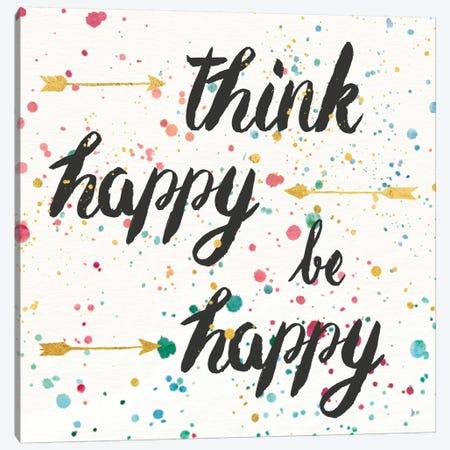 Think Happy II Canvas Print #WAC6924} by Jess Aiken Canvas Artwork