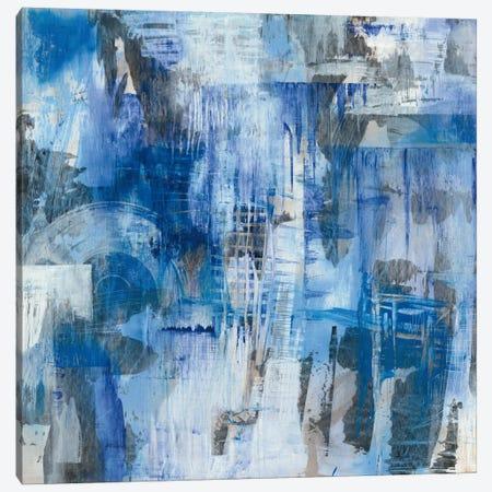 Industrial Blue Canvas Print #WAC6927} by Melissa Averinos Canvas Artwork