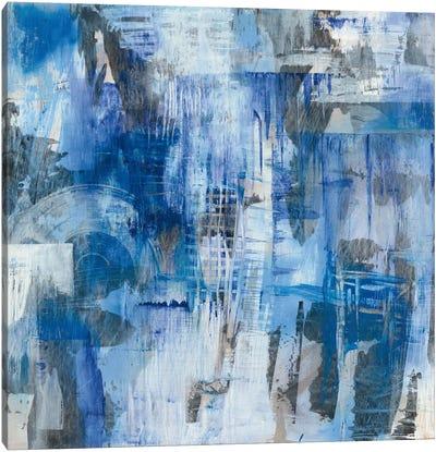 Industrial Blue Canvas Art Print
