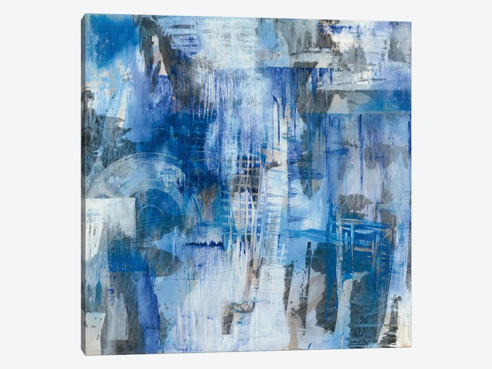 Industrial Blue by Melissa Averinos 1-piece Canvas Print