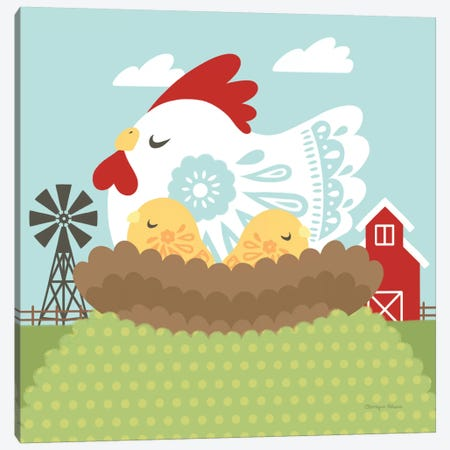Little Farm II Canvas Print #WAC6929} by Cleonique Hilsaca Art Print