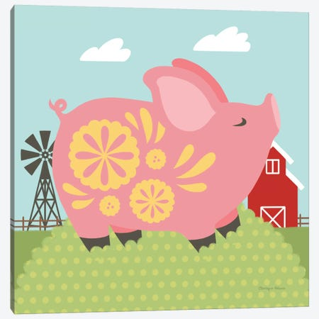 Little Farm III Canvas Print #WAC6930} by Cleonique Hilsaca Canvas Wall Art