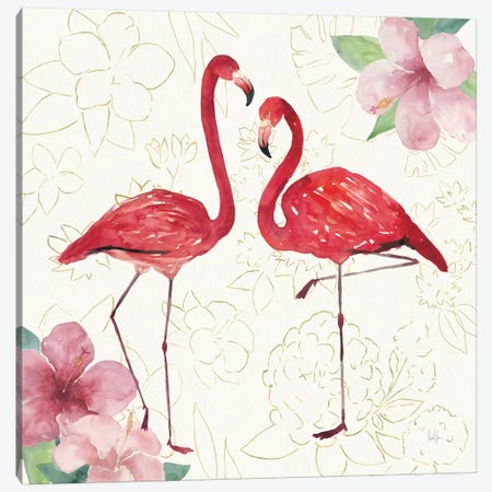 Tropical Fun Bird IV Canvas Print #WAC6946} by Harriet Sussman Canvas Artwork