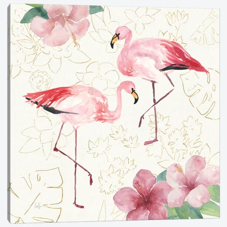 Tropical Fun Bird V Canvas Print #WAC6947} by Harriet Sussman Canvas Artwork