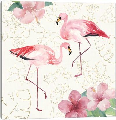 Tropical Fun Bird V Canvas Art Print