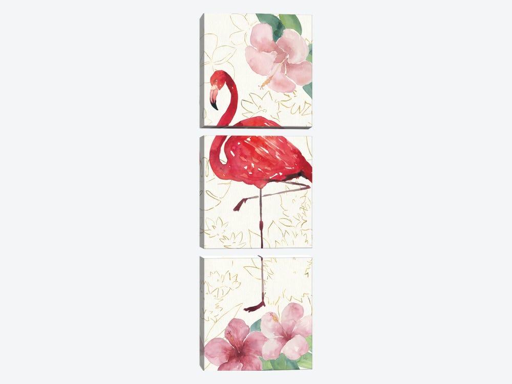 Tropical Fun Bird VII by Harriet Sussman 3-piece Canvas Art Print