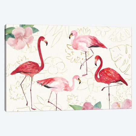 Tropical Fun Bird VIII Canvas Print #WAC6950} by Harriet Sussman Canvas Wall Art