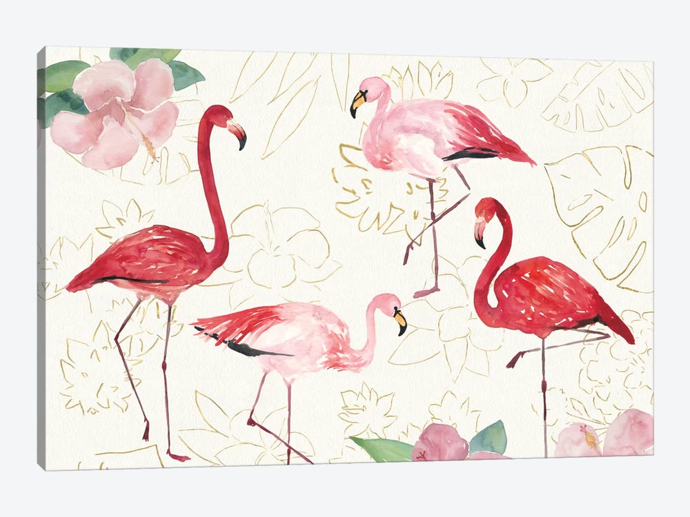 Tropical Fun Bird VIII by Harriet Sussman 1-piece Canvas Art Print
