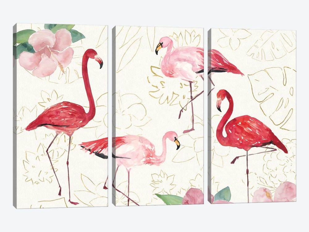 Tropical Fun Bird VIII by Harriet Sussman 3-piece Canvas Art Print