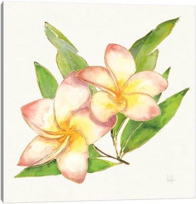 Tropical Fun Flowers I Canvas Art Print