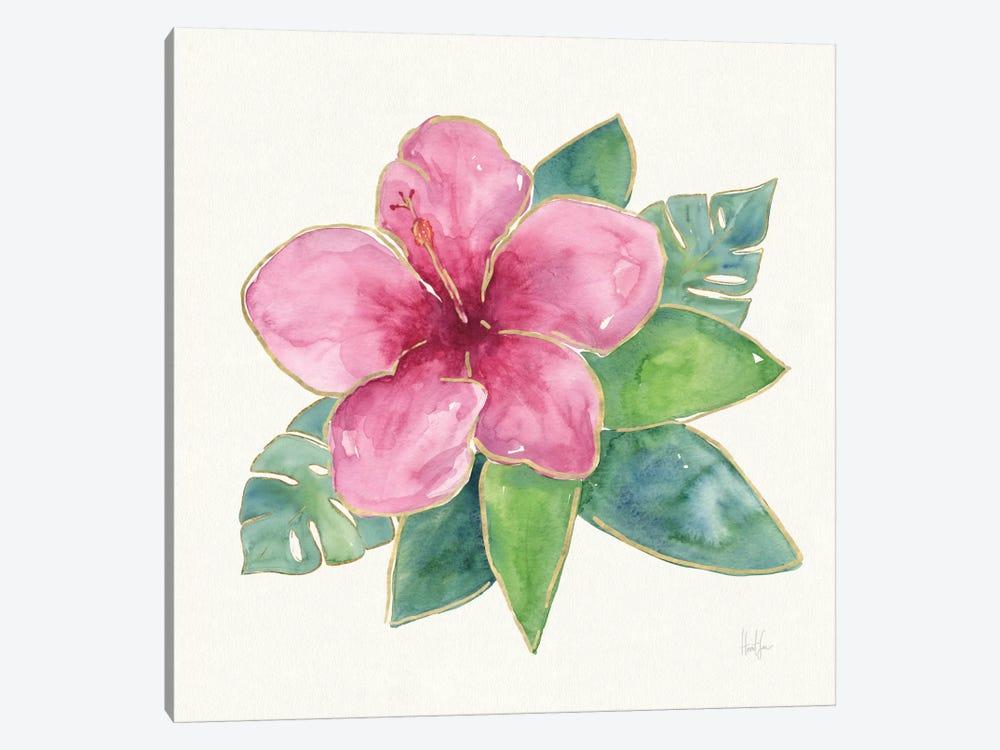 Tropical Fun Flowers III by Harriet Sussman 1-piece Canvas Wall Art